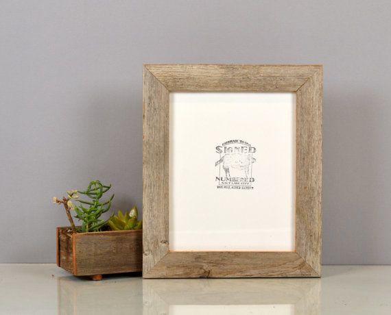Handmade Reclaimed Cedar Wood Picture Frame