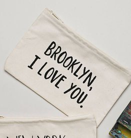 Lovewild Design Brooklyn, I Love You Zippered Pouch
