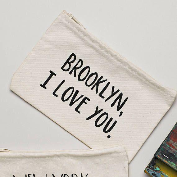 Lovewild Design Brooklyn, I Love You Zippered Pouch