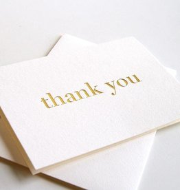 Steel Petal Press Thank You Gold Cards (Box of 6)
