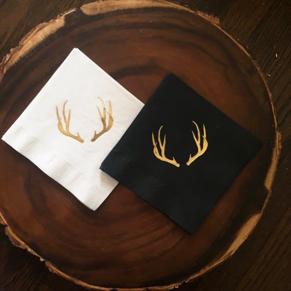 The Roc Shop The Roc Shop Deer Antlers Cocktail Napkins 20ct