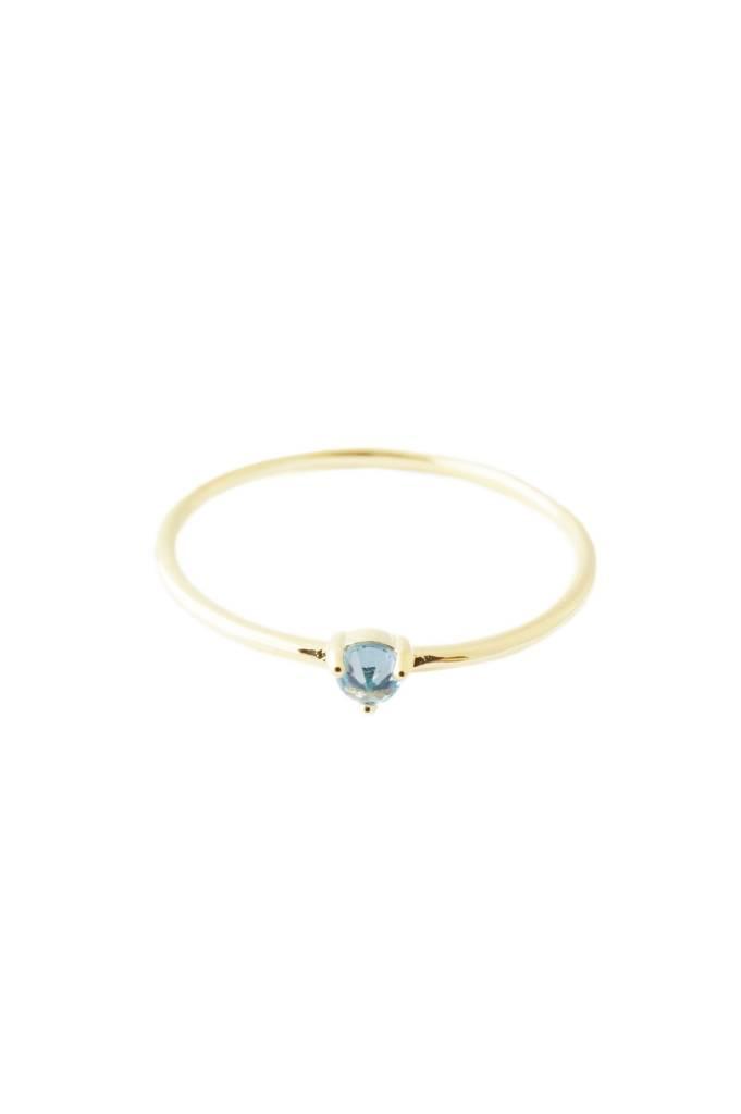 Honeycat Honeycat Aquamarine Crystal Point Solitaire Ring