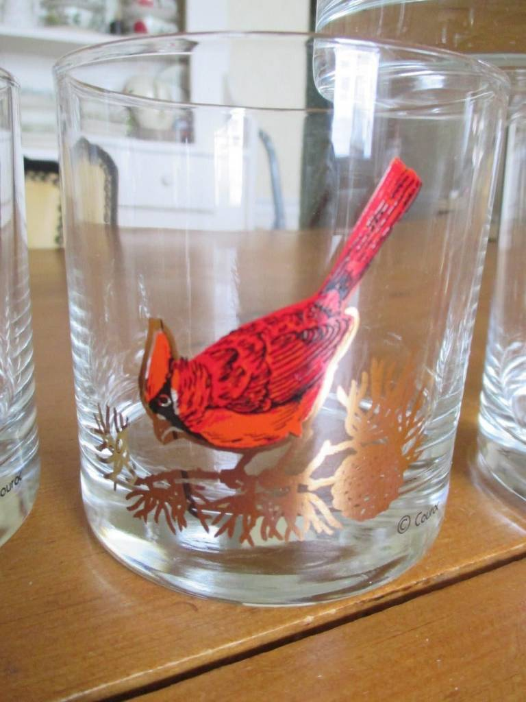 Vintage Couroc of Monterey Cardinal Rocks Glass