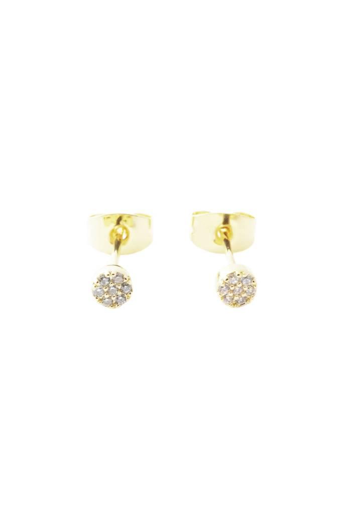 Honeycat Honeycat Mini Circle Crystal Stud Earrings