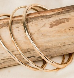 Mana Made Jewelry Mana Made 14K Rose Gold Hammered Cuff Bracelet