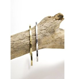 Mana Made Jewelry Mana Made Sterling Hammered Square Cuff Bracelet