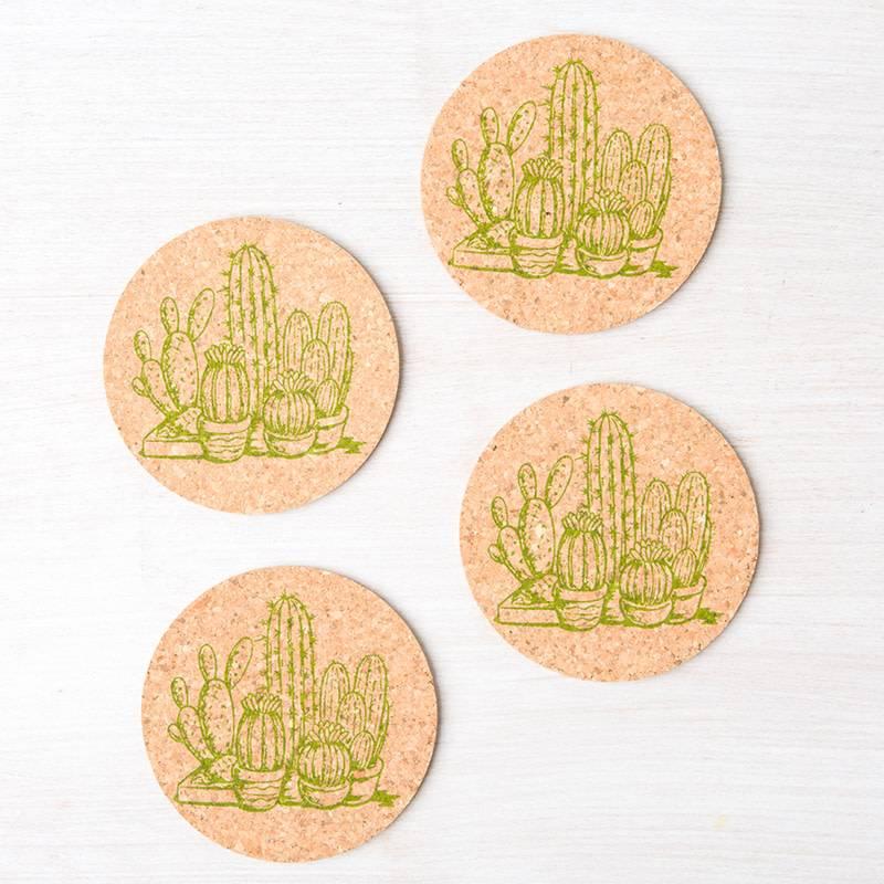 Counter Couture Cork Coaster Set of 4