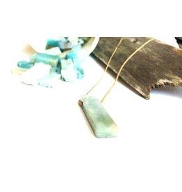 "Mana Made Jewelry Mana Made Amazonite Long Stone Necklace | 28"""