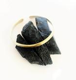 Mana Made Jewelry Mana Made Brass Hammered Thick Cuff Bracelet
