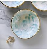 Modern Mud Larimar Aqua Gold Ring Dish