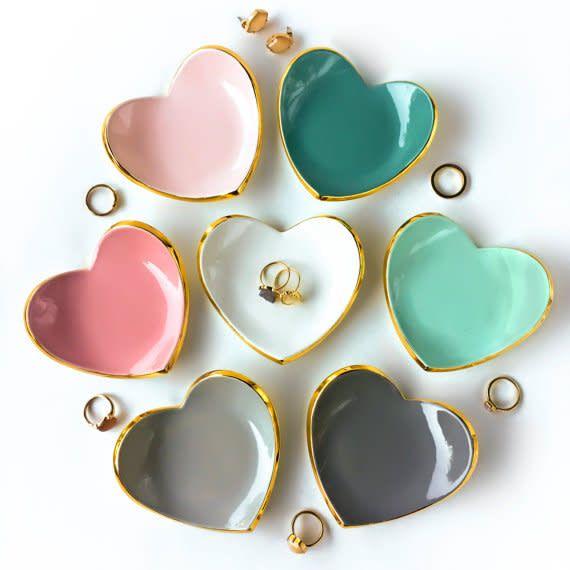 Modern Mud Heart Ring Dish