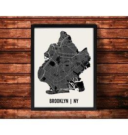 Mr City Printing Mr. City Brooklyn Map Artwork Unframed