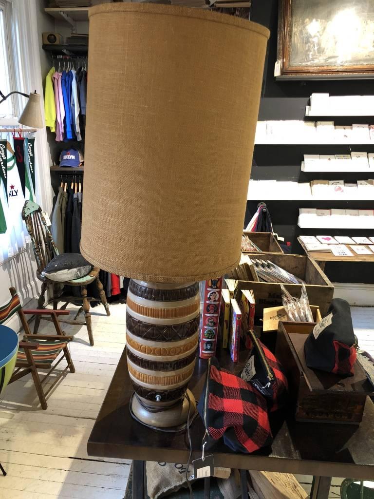 Vintage Brown Stripe Lamp