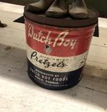 Vintage Large Dutch Boy Pretzel Tin