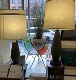 Vintage Gold/Black Lamp Pair