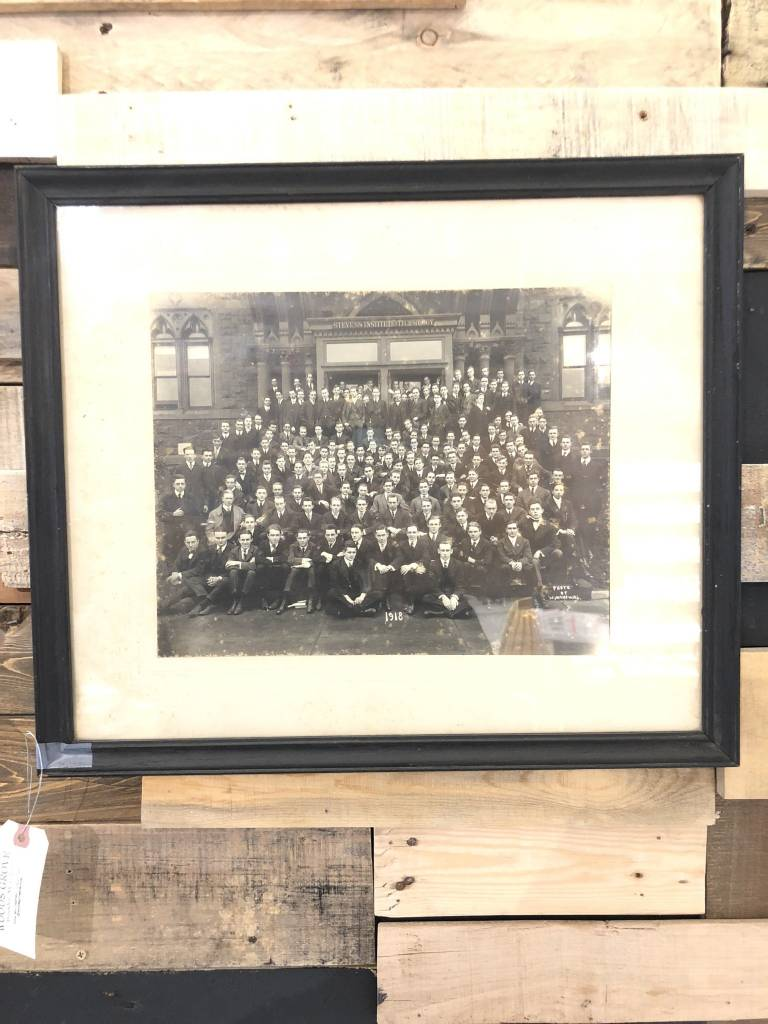 Vintage 1918 Stevens Ins Tech Framed Photo