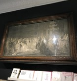 Vintage 48x29 Early 1900's Framed Art