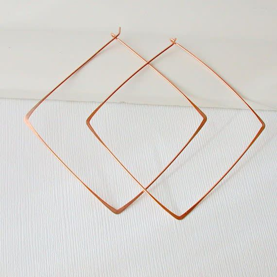Linda Trent Jewelry Linda Trent Large Square Hoops - Gold