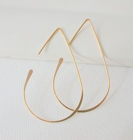 Linda Trent Jewelry Linda Trent Medium Teardrop Threader Hoops 14k Gold Filled