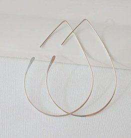 Linda Trent Jewelry Linda Trent Large Teardrop Threader Hoops 14k Gold Filled