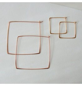 Linda Trent Jewelry Linda Trent Small Square Hoops 14k Gold Filled