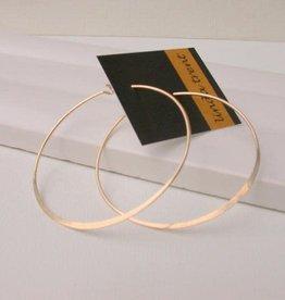 "Linda Trent Jewelry Linda Trent 1.75"" Round Hoop 14k Gold Filled"
