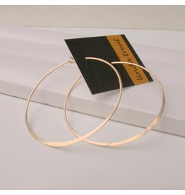 "Linda Trent Jewelry Linda Trent 1.0"" Round Hoop - Gold"