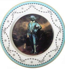 "Blue Yoda Portrait Plate 10.5"""