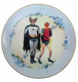 "Beat Up Creations BeatUp Creations Batman and Robin Plate 7.75"""