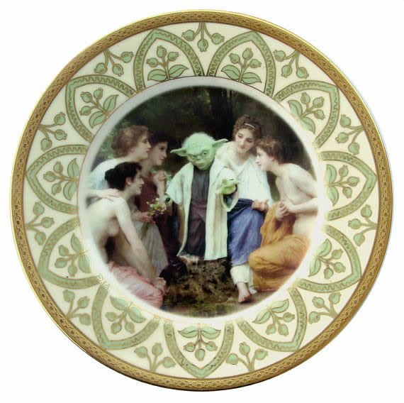Yoda and the Nymphs Portrait Plate 9.75""