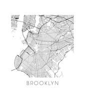 ilikemaps Ilikemaps 11x14 Print - Brooklyn