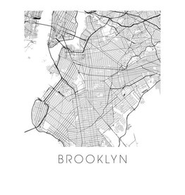 ilikemaps Ilikemaps Greeting Card - Brooklyn