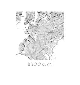 ilikemaps Ilikemaps Greeting Card - Brooklyn