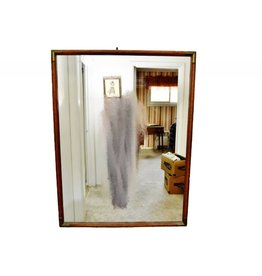 Vintage GIANT OAK WALL/HALL MIRROR - 38 x 49