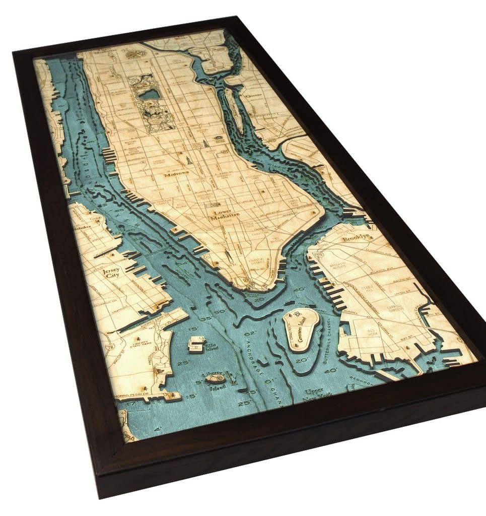 Wood Chart Wood Chart 24.5 x 31 - Manhattan