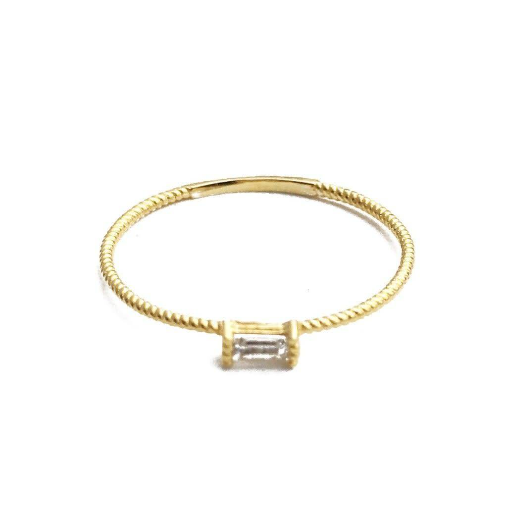 Honeycat Honeycat Crystal Baguette Ring