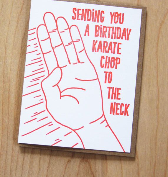 Wishbone Letterpress Card