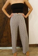 KNIT RIBBED WIDE PANT