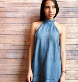 Raw Hem Denim Dress