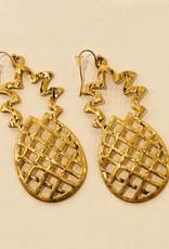 Large Pineapple Earrings