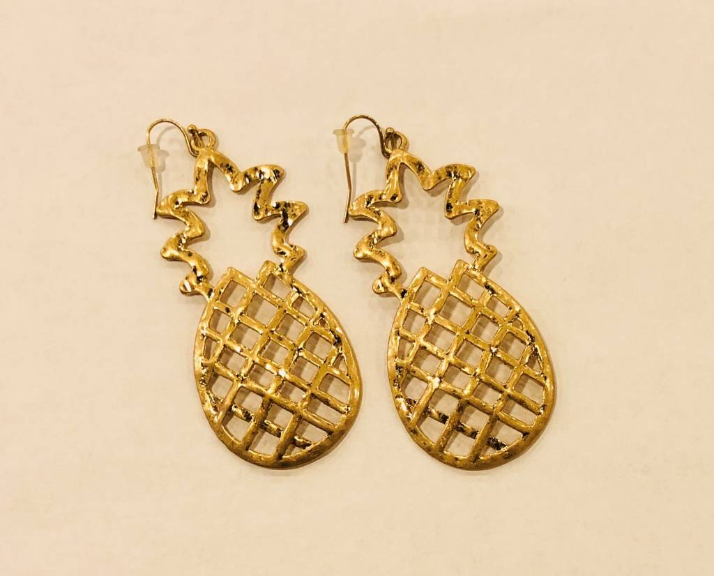 Large Pineapple Earrings