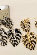 Double Monstera Earrings