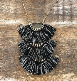 Triple Fringe Necklace
