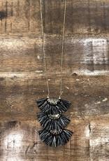 Triple Fringe Necklace