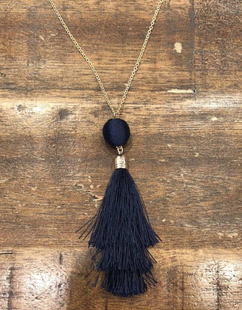 Single Tassel Long Necklace