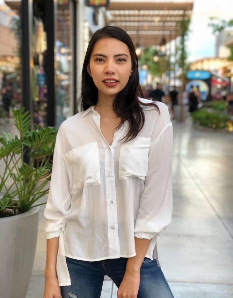 White Button-Up Shirt