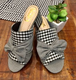 Sydney Black White Gingham Shoe