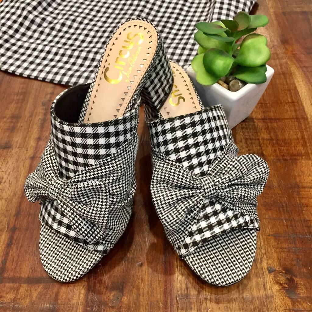 Sydney Black White Gingham Shoe
