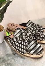 Lulu Black White Stripe Shoe