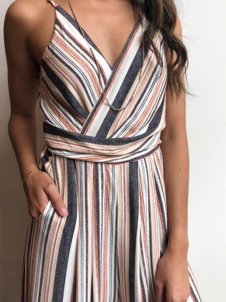 Multi Stripe Fall Jumpsuit